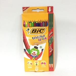 LAPIZ BIC COLOR X 12 LARGO EVOLUTION