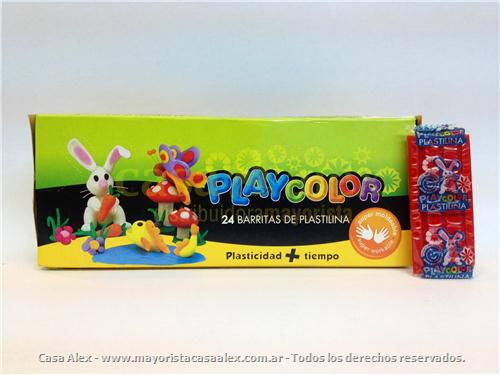 PLASTILINA PLAYCOLOR X 24 BUL 25 COLORES