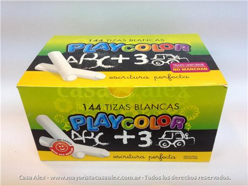 TIZA PLAYCOLOR BLANCA X 144