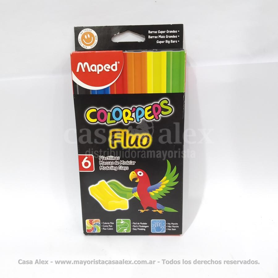 PLASTILINA MAPED COLORPEPS X 6 FLUO