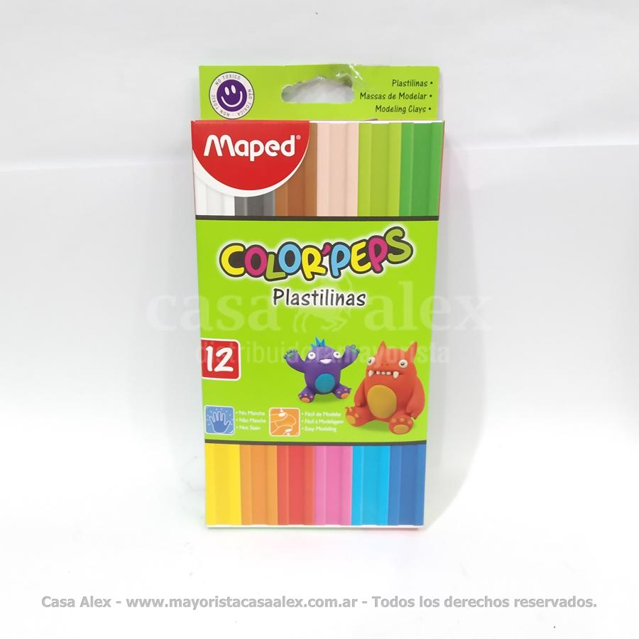 PLASTILINA MAPED COLORPEPS X 12