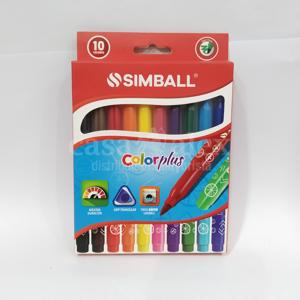 MARCADOR SIMBALL COLOR PLUS X 10